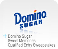 Domino Sugar Sweet Memories Qualified Entry Sweepstakes Logo