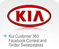 Kia Customer 360 Facebook Contest and Twitter Sweepstakes Logo
